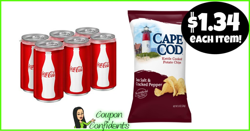 Coca-Cola 6 packs and Cape Cod Chips Deal at Publix! WOW!