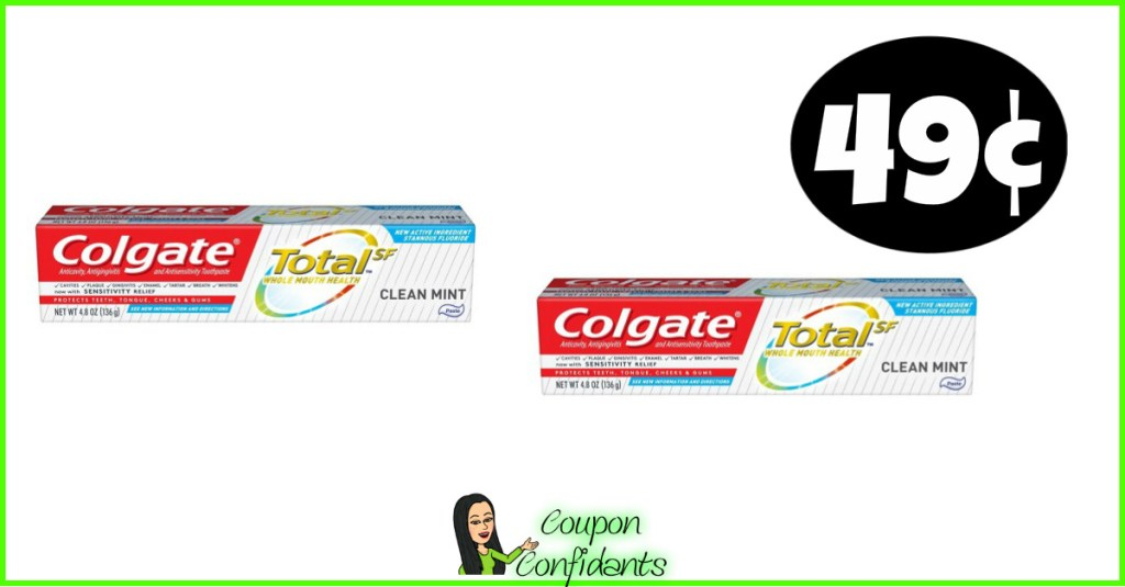 Colgate Toothpaste 49¢ at CVS!