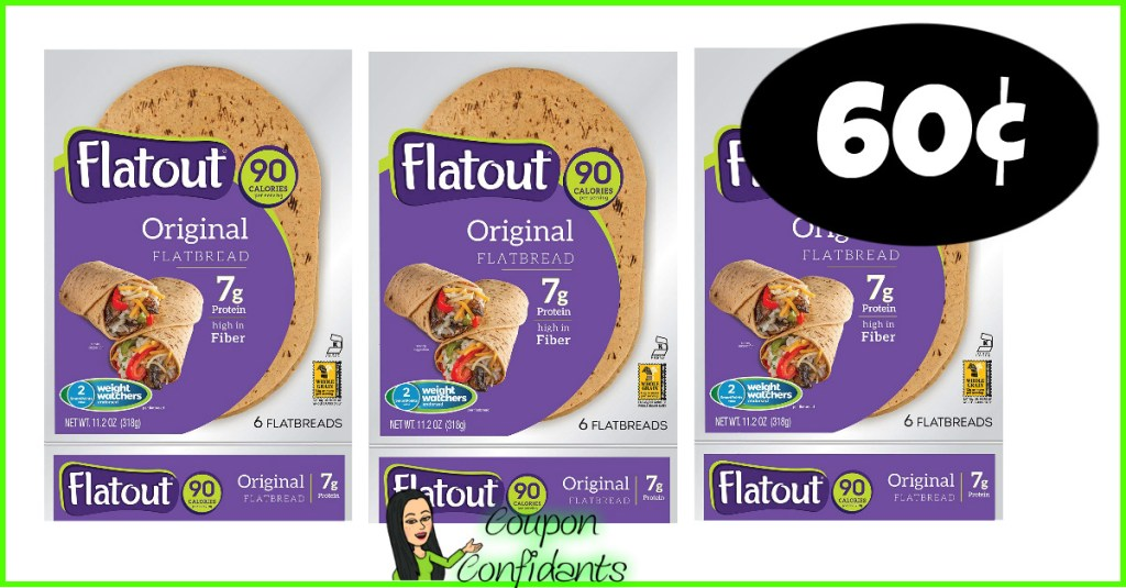 Flatout Wraps 60¢ each at Publix! HURRY!!