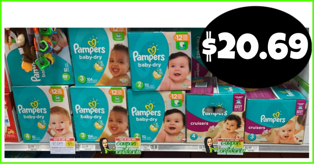 Pampers Diapers $20.49 at Publix! (Normally $26.99)