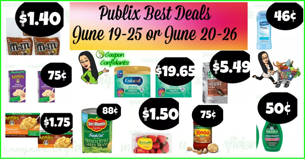 Publix BEST Deals and FULL Match ups! June 19-25 or June 20-26