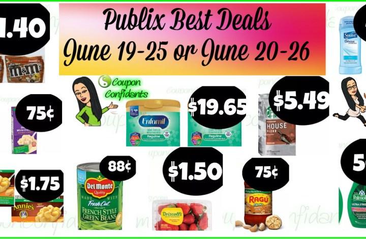 Publix BEST Deals and FULL Match ups! June 19-25 or June 20-26