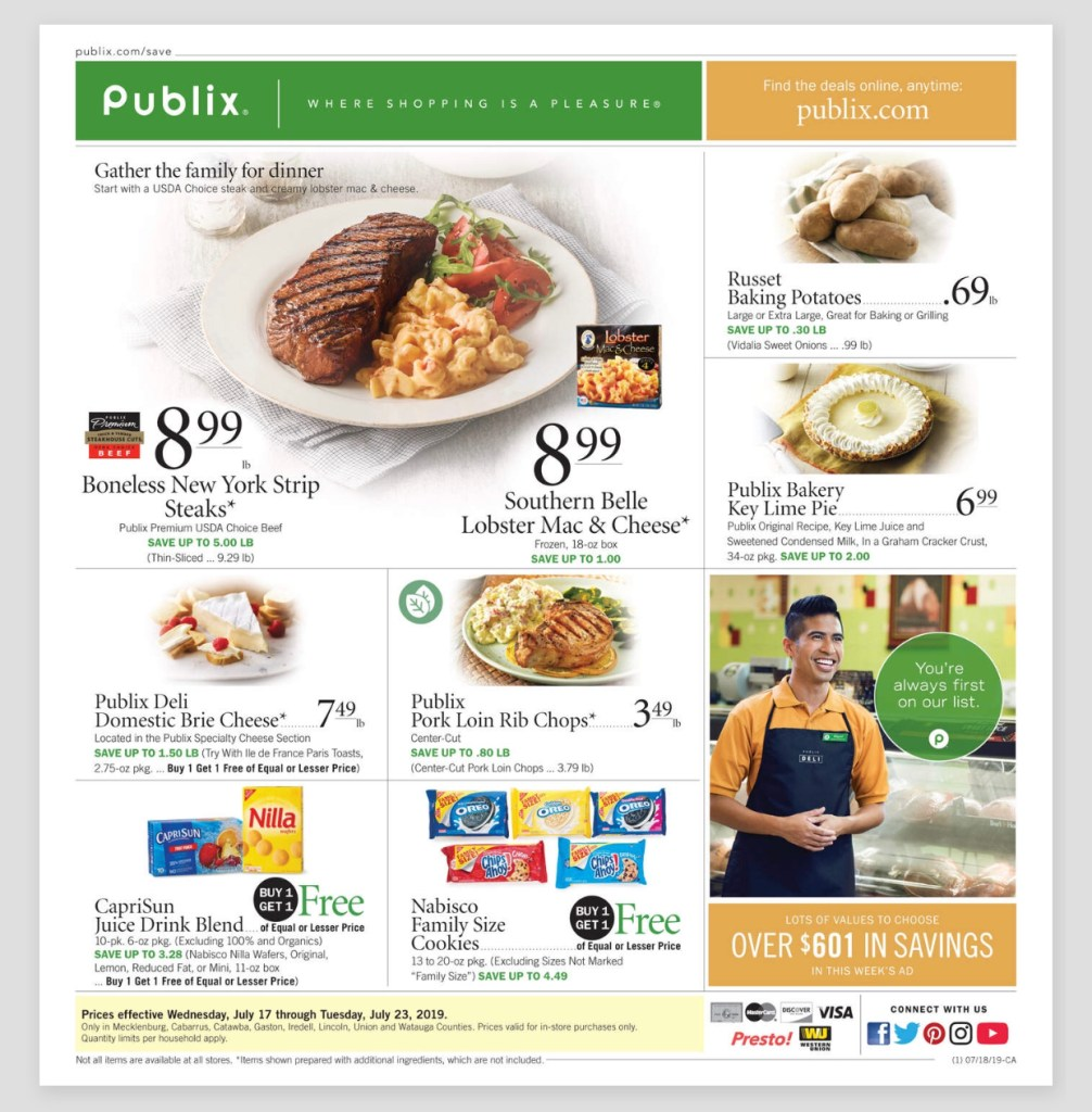 Publix NEW AD and Deals Too! July 17-23 or July 18-24