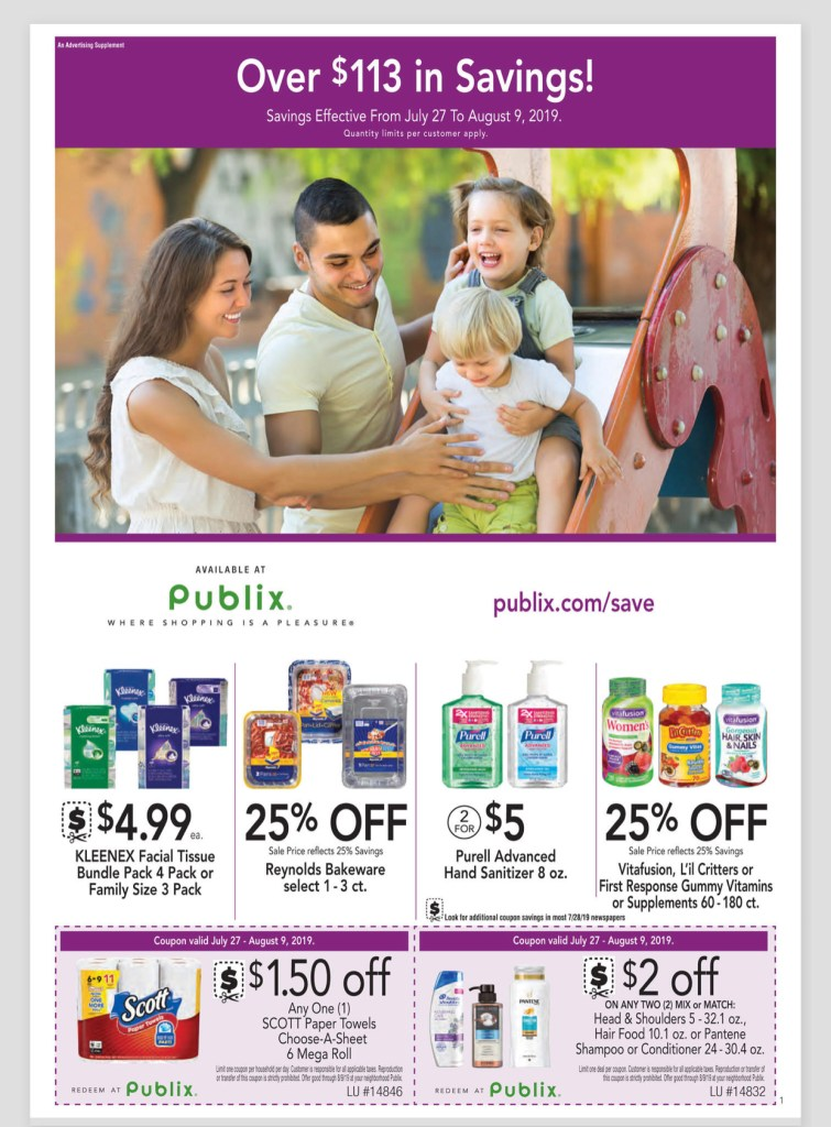 Publix Purple Flyer and Deals Too! July 27- August 9
