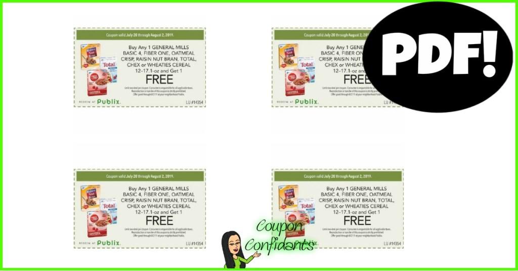 Publix BOGO Cereal Coupon as PDF!
