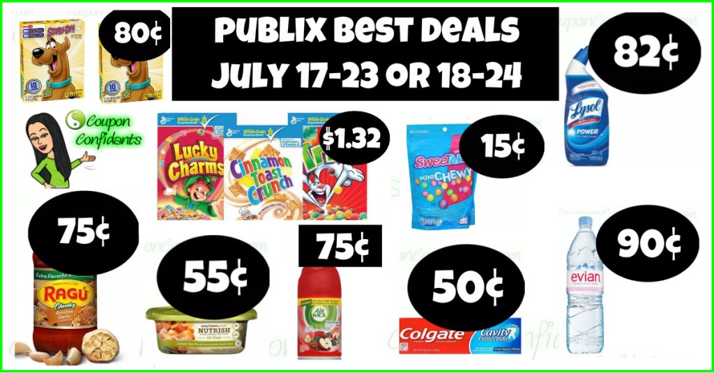 Publix Best Deals and FULL Match ups! July 17-23 or July 18-24