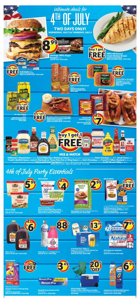 Winn Dixie AD July 3 – 9