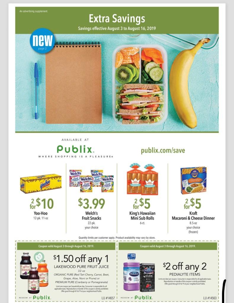 NEW Publix Green Flyer AD! 8/3-8/16