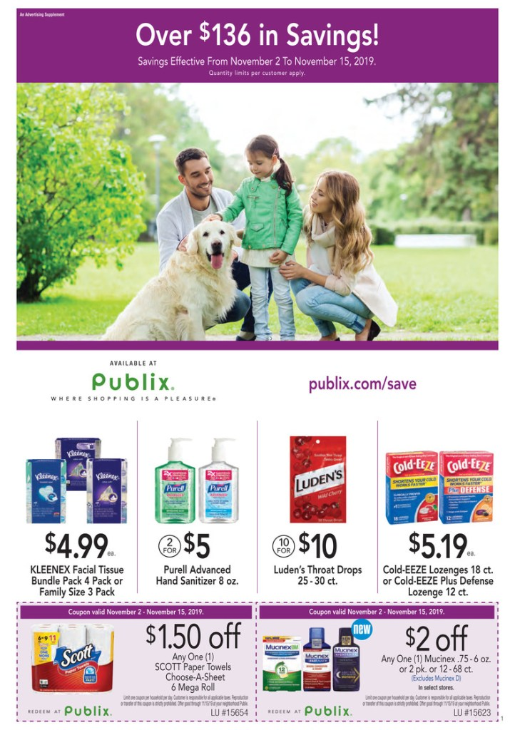 Publix Purple Flyer AD 11/2-11/15