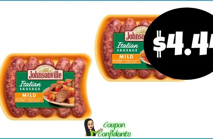 Johnsonville Italian Sausage $4.44 at Publix