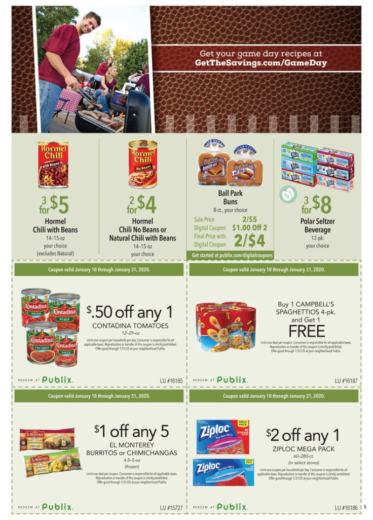 Publix Green Flyer Scan! Jan 18-31