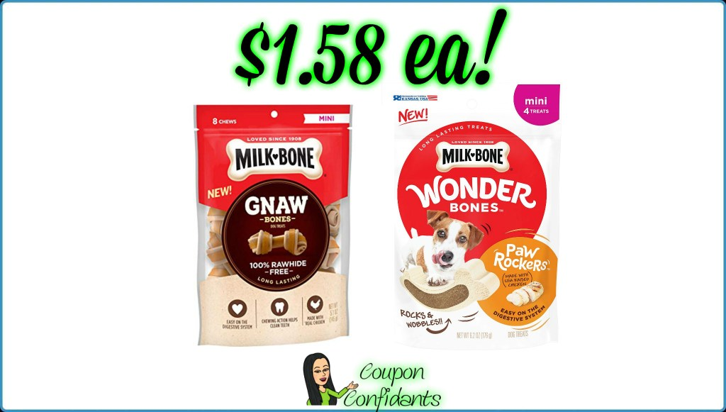 Milk Bone Select Treats $1.58 each at Publix!