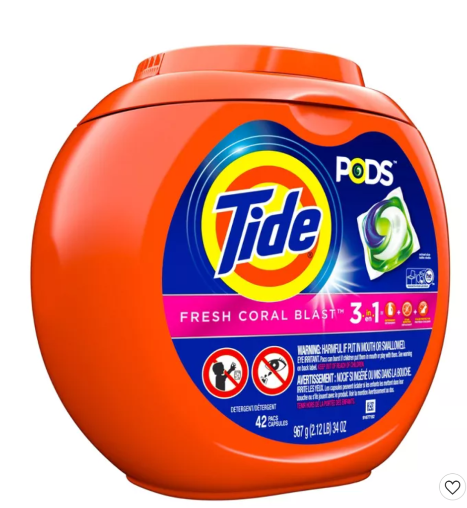Tide Pods 42 ct $6.34 (after gift card) at Target! STOCK UP PRICE!!