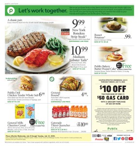 PUBLIX AD July 8-14 or 9-15 (Depends on where you live*)