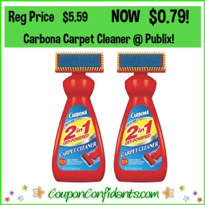 Carbona Carpet Cleaner $0.79 at Publix! EVERYONE can do this!