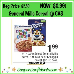 $0.99 Cereal at CVS! EVERYONE can get this!