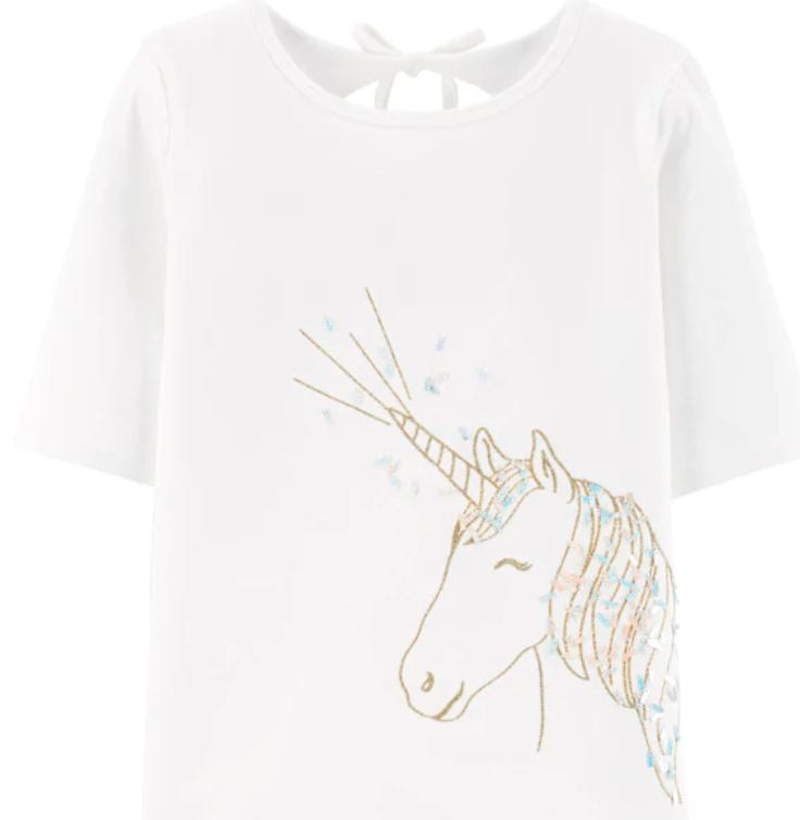 Girls Glitter Unicorn Shirt Reg Price $28 NOW $8.40!