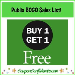 Publix COMPLETE BOGO list!