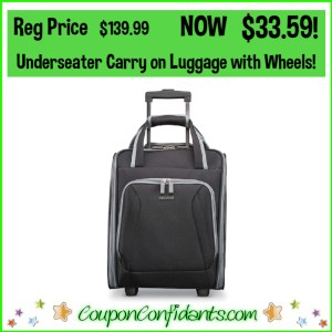 Underseater Carry On Luggage with Wheels Reg Price $139.99 NOW $33.59!