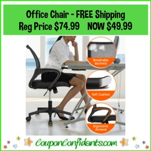 Office Chair with FREE Shipping Reg Price $74.99 NOW $49.99