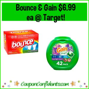 Bounce Sheet and Gain Flings $6.99 each at Target!