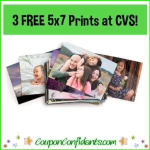 3 FREE 5×7 Prints at CVS!