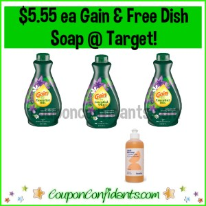 Gain Essential Oils Laundry Detergent $5.55 ea and FREE Soap at Target! Do this deal without ever leaving your house!