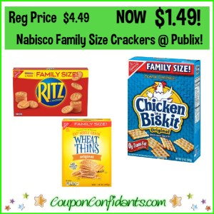 Nabisco Crackers Family Size $1.49 at Publix!
