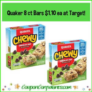 Quaker Bars $1.10 each at Target right NOW!