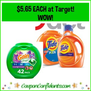 Tide and Gain Deal at Target! $5.65 each for the BIG ones!