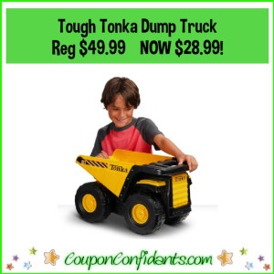 Tonka Toughest Mighty Dump Truck Reg Price $49.99 NOW $28.99!