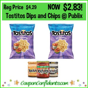 Tostitos Chips and Dips at Publix for Cheap!