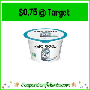 Two Good Yogurt $0.75 at Target!