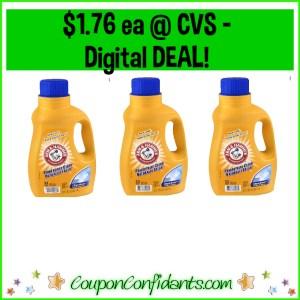 Arm & Hammer Detergent $1.76 each at CVS!