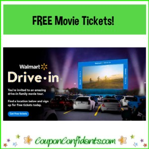 FREE Walmart Movie Tickets for the new Drive in!
