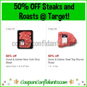 50% Target Circle Offers on Steaks and Roasts!!