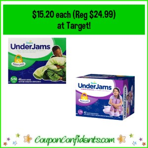 Pampers Underjams $15.20 at Target! (Regularly $24.99 each!)