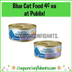 Blue Wet Cat food $0.04 each can at Publix!