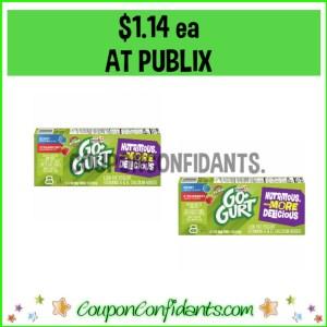 Go Gurts $1.14 each at Publix!