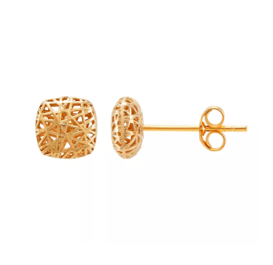 14K Gold Polished Mesh Earrings Was $375 NOW $95.62!
