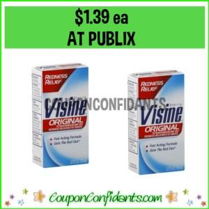Visine Eye Drops $1.39 ea at Publix