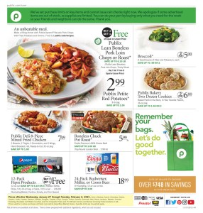 PUBLIX AD Start Date Jan 27 – Feb 2 OR Jan 28 – Feb 3 (Depends on where you live*)