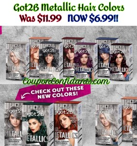 Got2B Metallic Colors $6.99 at CVS!