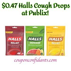 Halls 47¢ at Publix!