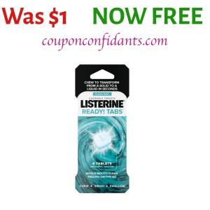 FREE Listerine Ready Tabs at Walmart!