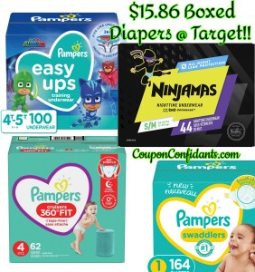 $15.86 BOXED Diapers at Target – Mix and Match!