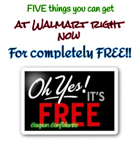 FIVE Things you can get for FREE at Walmart right now!