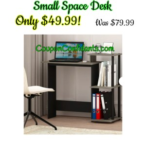 PC Desk for small spaces only $49.99!