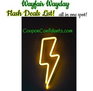 Wayfair Wayday Flash Deals Master List!