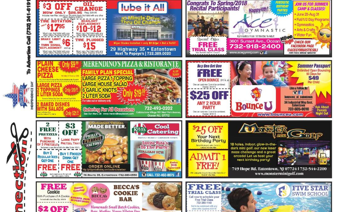 June/2018 Coupon Connection/Summer Fun – Click Here To See Coupons